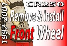 1997 -2001 Honda CR250 - How to Remove & Install Your Front Wheel Featured Image