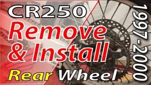 1997-2001 Honda CR250 Remove & Install Rear Wheel