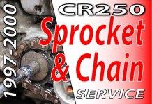 1997 - 2001 Honda CR250 -Sprocket & Chain Service