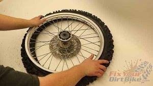 Push Rim Into Tire