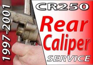 1997 - 2001 Honda CR250 - Brakes - Rear Caliper Service