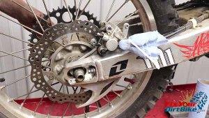 Install Rear Wheel And Caliper