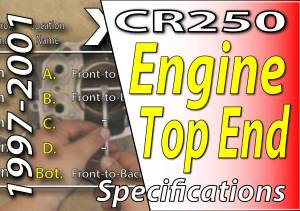 1997 -2001 Honda CR250 - Engine Top End Specifications Featured