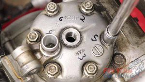 Top End Service - Part 1 - Cylinder Head Removal - Loosen Head Nuts