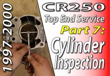 1997 - 2001 Honda CR250 - Top End Service - Part 7 - Cylinder Inspection