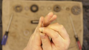 14 - The Washers And Snap Rings Have A Flat Side And A Rounded Side