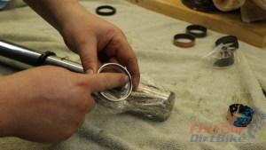 19 - Backup Ring Orientation - Shoulder Toward Axle Holder