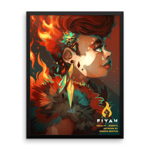 REBIRTH wall art with black frame