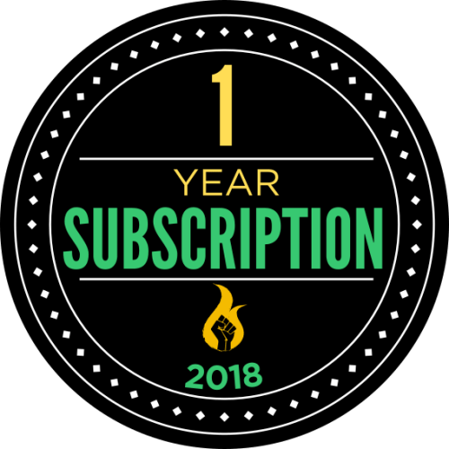 1 year subscription badge