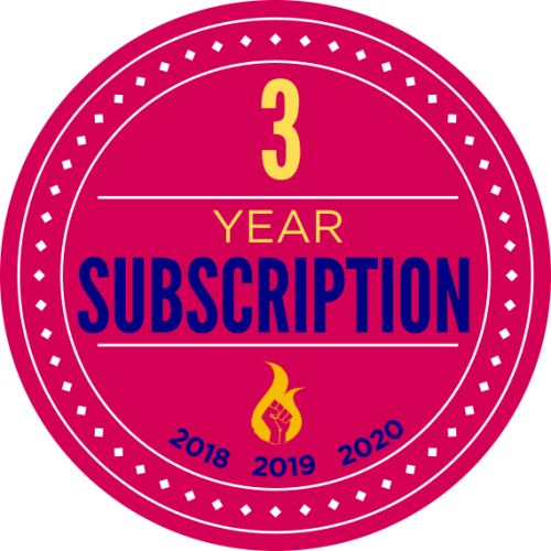 3 year subscription badge