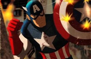 captain america retro poster