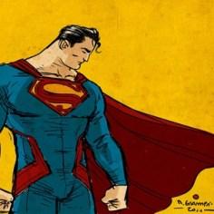 super hero art super man