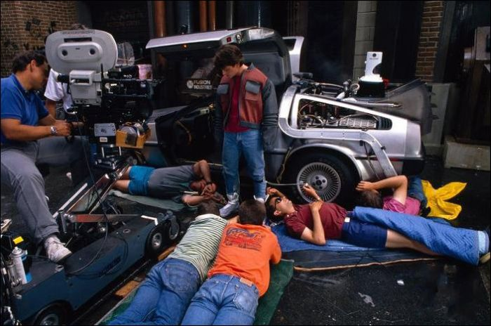 BACK TO THE FUTURE Behind the Scenes Set Photos