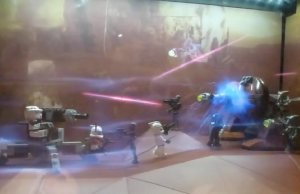 Lil Plastic Pews: Holographic LEGO Star Wars Toy Display