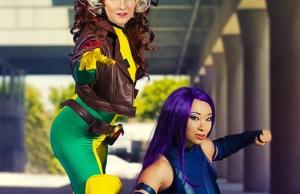 rogue and psylocke sexy cosplay