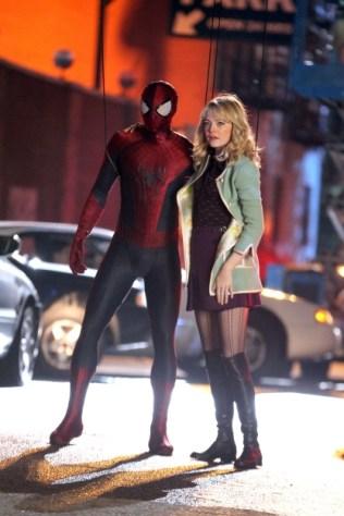 Spidey and Gwen Swing Around in New Amazing Spider-Man 2 Set Photos