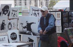 bansky art newyork stall