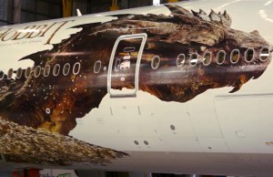 Smaug Reveals Itself on a Air New Zealand Boeing 777