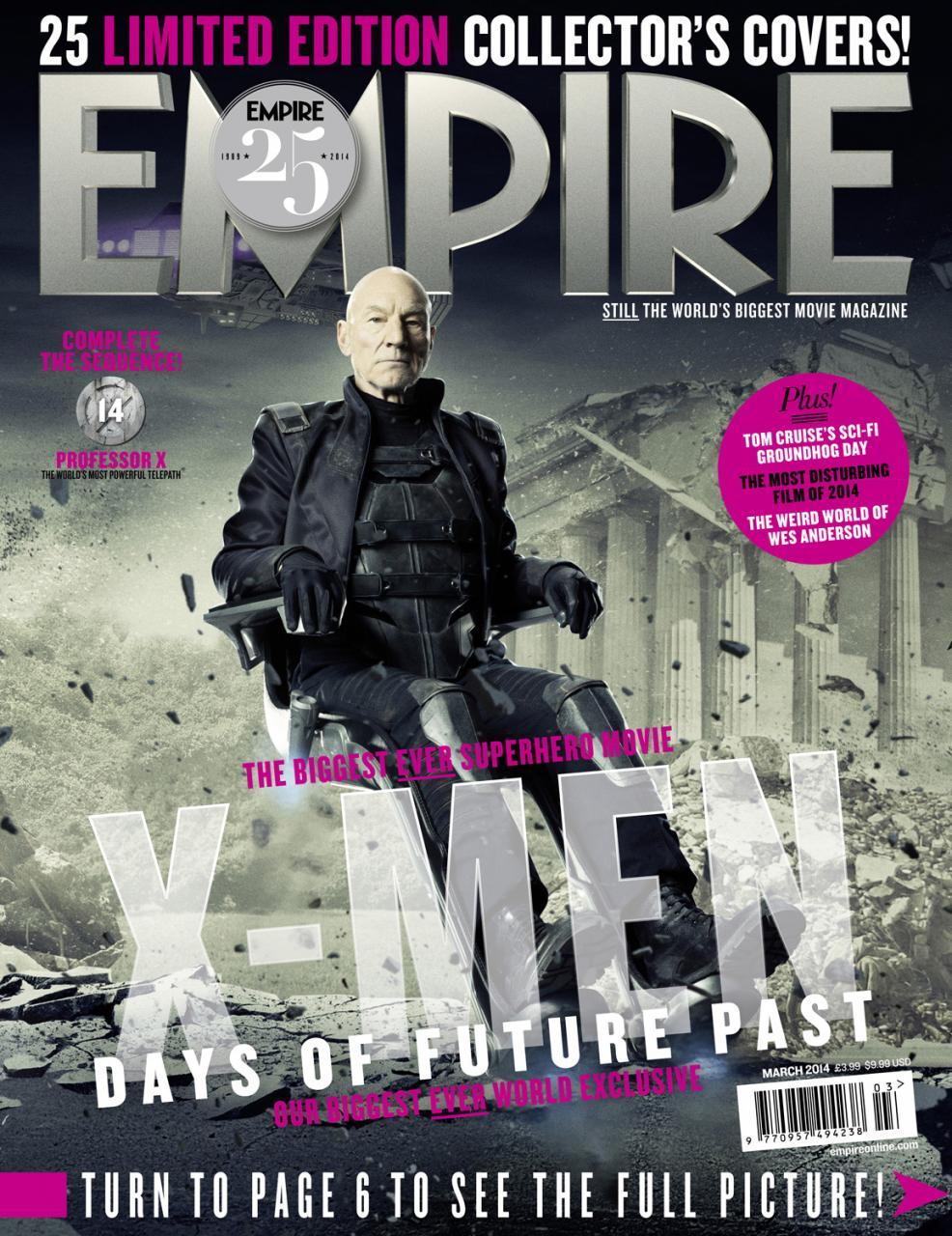 X-MEN DAYS OF FUTURE PAST Empire Magazine Covers  (6)