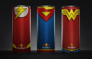 Justice League Inspired Red Bull Cans