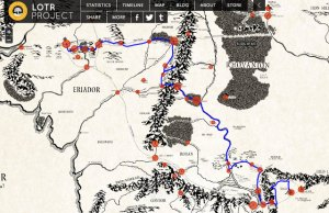 Interactive Hobbit/Lord Of The Rings Middle Earth Map