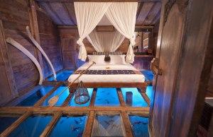The Glass Bottom Bedroom in Bali