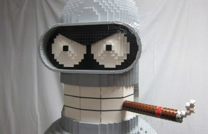 6-Foot LEGO Bender Liquor Cabinet
