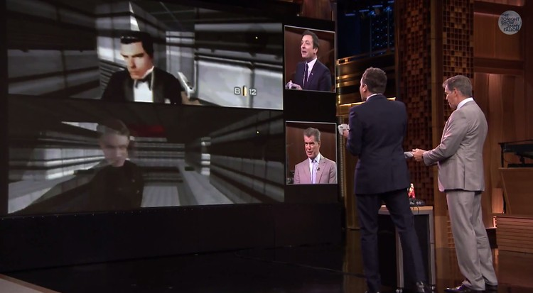 Pierce Brosnan Plays GoldenEye 007 on N64 with Jimmy Fallon