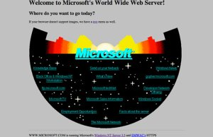 Microsoft's Website 20 Years Ago