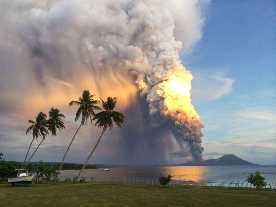 Eruption Of Mount Tavurvur, Papua New Guinea