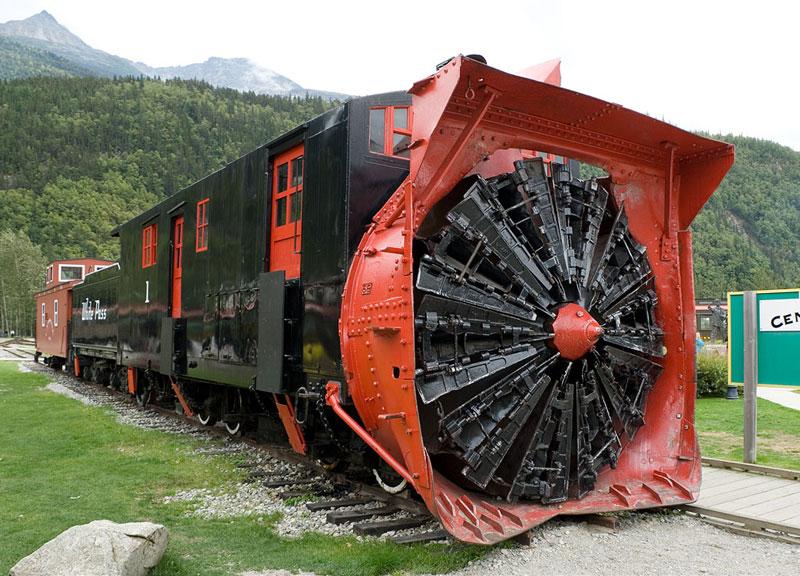 A Snowplow for Train Tracks
