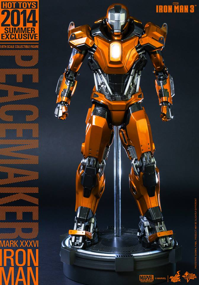 Hot Toys IRON MAN 3 Peacemaker Mark XXXVI Action Figure