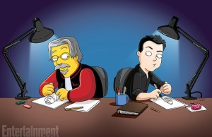 'Simpsons' and 'Family Guy' Creators Matt Groening and Seth MacFarlane Draw Each Other