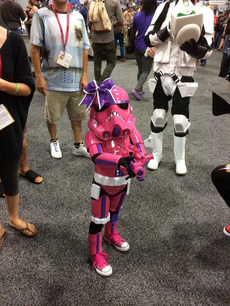 Cutest Pink Stormtrooper Ever