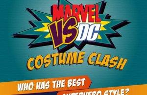 Marvel Vs. DC Costume Clash Infographic