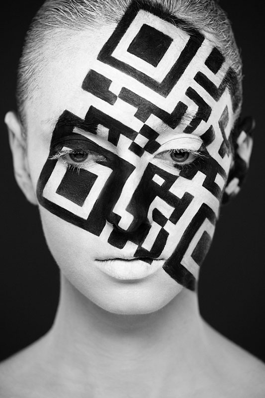 Black and White Portraits of Faces