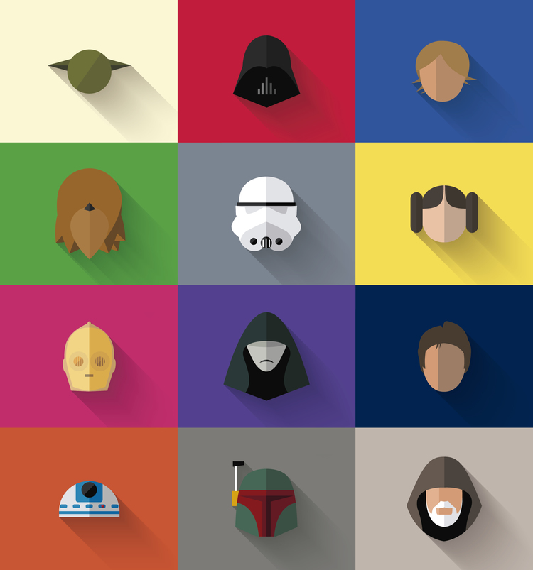 Star Wars Flat Character Icons