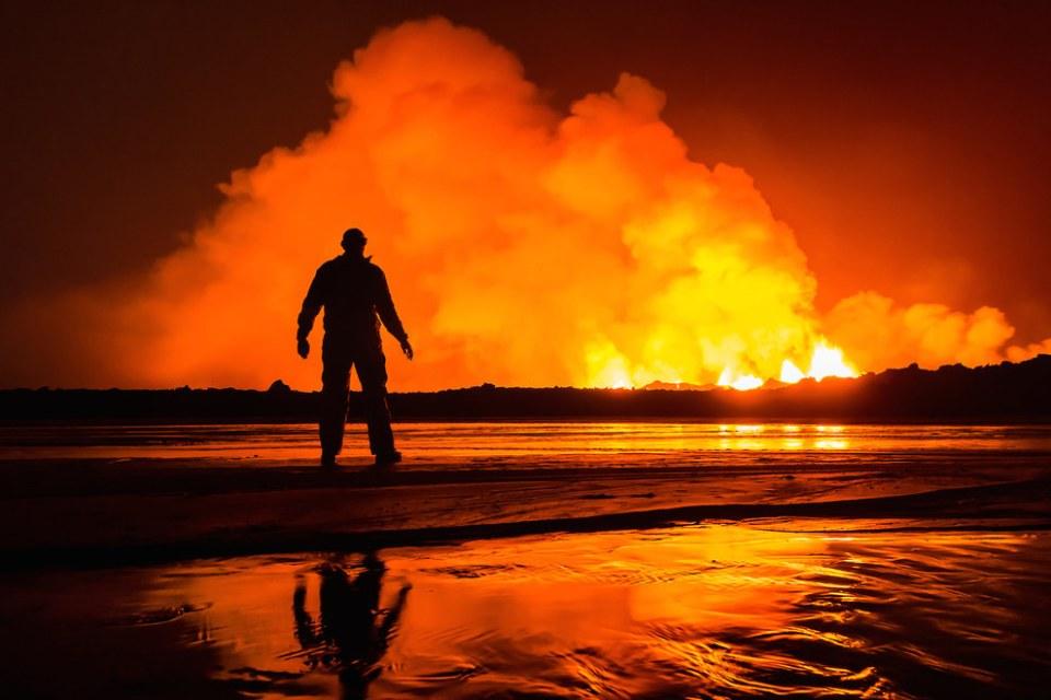 Erupting Volcano In Iceland