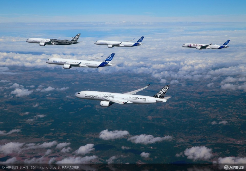 5 Airbus 350 Formation Flight Is Awesome - Pictures (2)