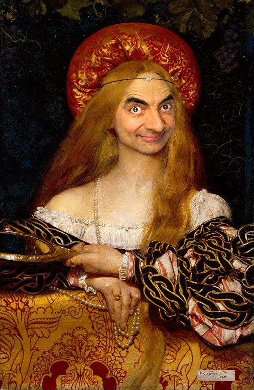 Mr Bean Photoshopped Into Famous Paintings
