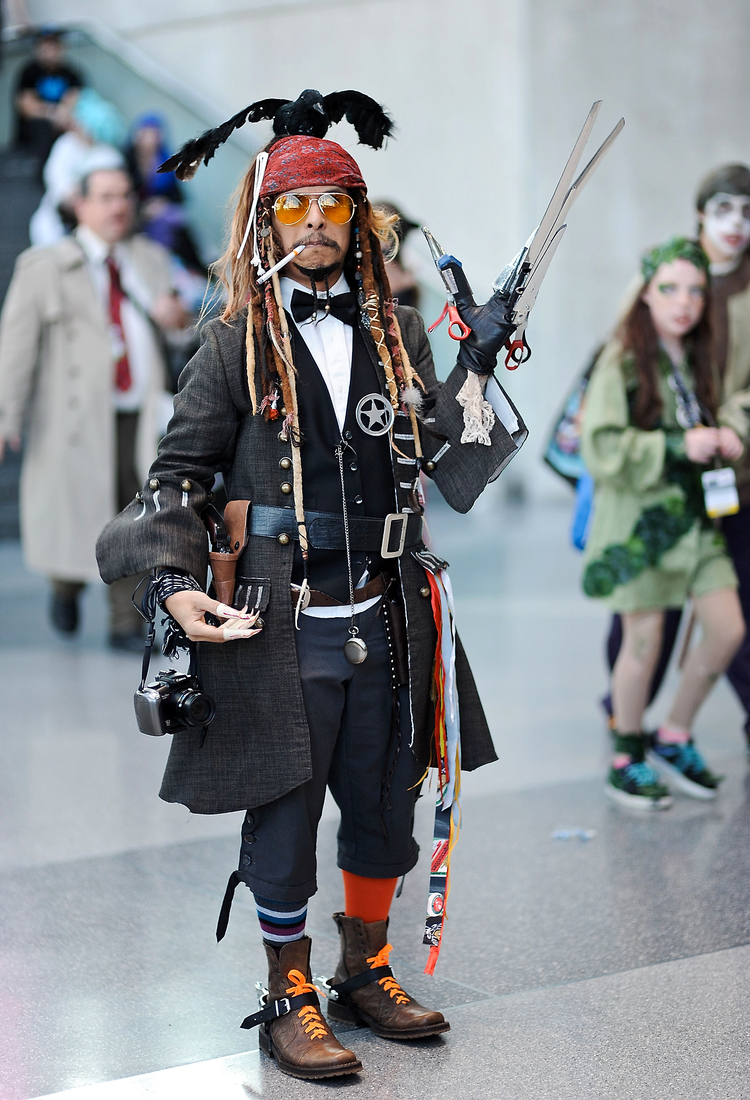 Johnny Depp Characters In One Cosplay