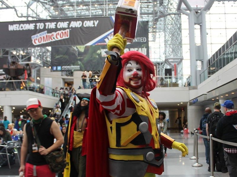 onald McDonald/Thor mashup cosplay