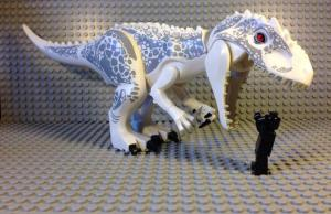 "JURASSIC WORLD's ""D-Rex"" in LEGO Form"