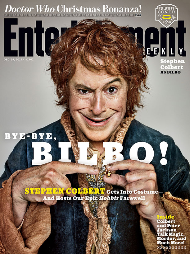 Stephen Colbert Goes Crazy On Hobbit for EW Covers