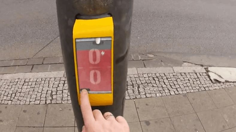 In Germany You Can Play Pong While Waiting At The Crossing