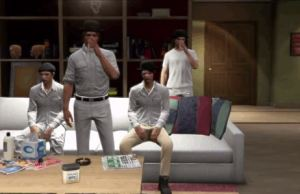 A CLOCKWORK ORANGE scene in gta