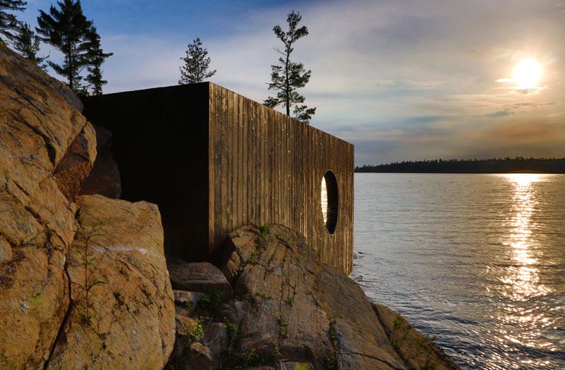 A Grotto Sauna on the Lake Huron