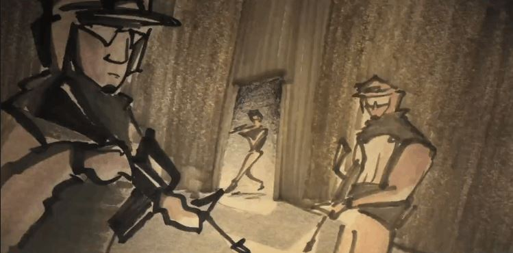 Animated War Short CONFUSION THROUGH SAND