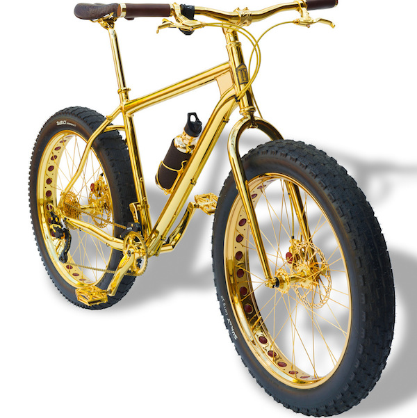 This is a $1 Million Solid Gold Bike