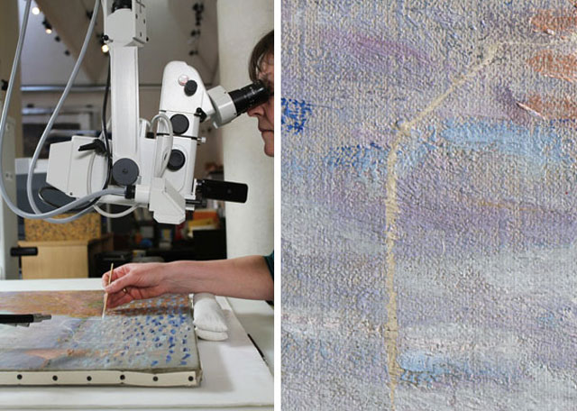 Want To Know How To Repair A$12 Million Monet (10)